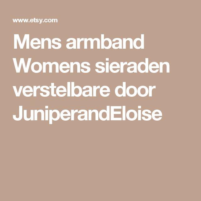 Mens armband Womens sieraden verstelbare door JuniperandEloise