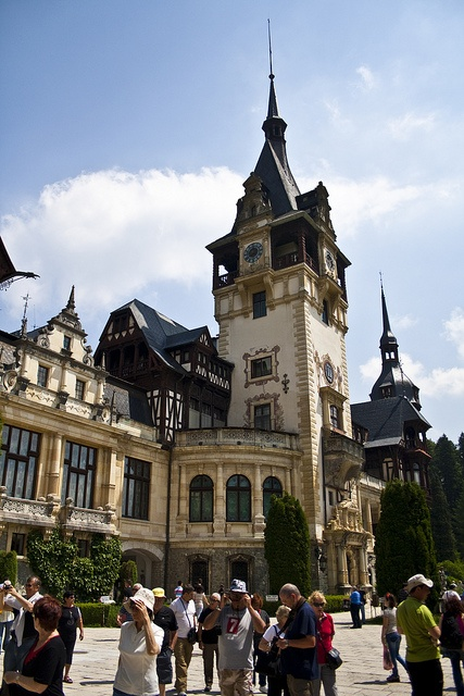 Peles Castle, Neo-Renaissance castle in the Carpathian Mountains, near Sinaia, Romania, on an existing medieval route linking Transylvania and Wallachia.   For information about tailor made tours in Romania, feel free to contact me at anytime by email: mihaijoimir@gmail.com or by phone: 0040 755 195 430