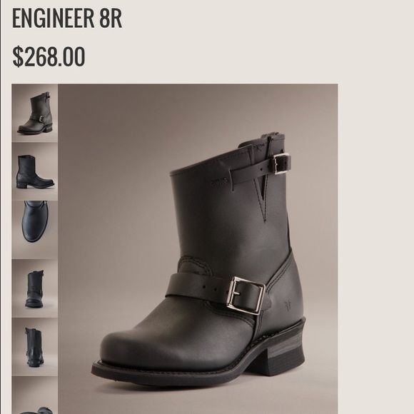 Frye engineer boots black 8r ONLY SELLING FOR A GOOD OFFER black with silver buckles short length boots, few minor scuffs in the front, 100% authentic Frye Frye Shoes
