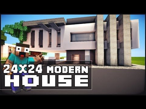 289 best images about minecraft on pinterest modern for Big modern house tutorial