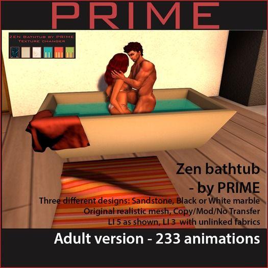Zen Adult Bathtub by PRIME (box)