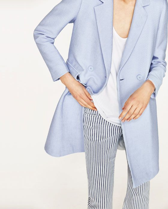 Image 5 of DOUBLE BREASTED COAT from Zara
