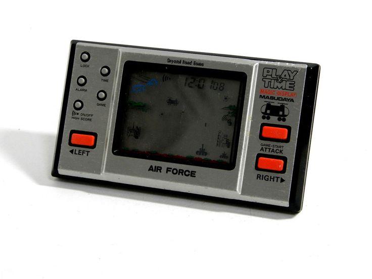 "80s Retro Masudaya LCD Game Watch ""Play & Time"" Air Force MIJ Good Condition_38 #Masudaya"