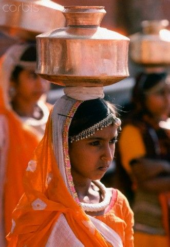 Indian Women Carrying Water, India