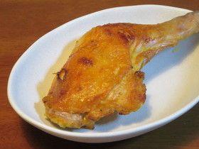 皮がパリッ♪骨付き鶏もも肉のスパイス焼き by ピーさんの゚ー゚゚ 【クックパッド】 簡単おいしいみんなのレシピが276万品