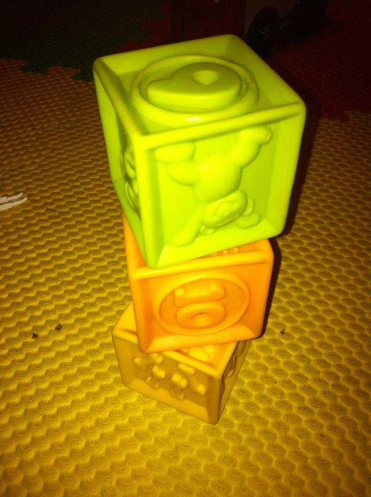 Soft plastic cubes