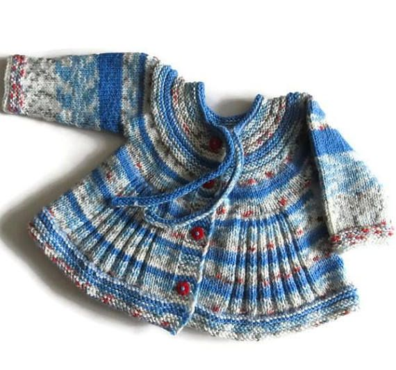 Baby knitted sweater Children's sweater Hand knit baby