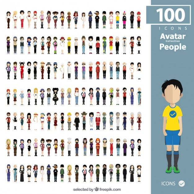 People avatars collection Free Vector