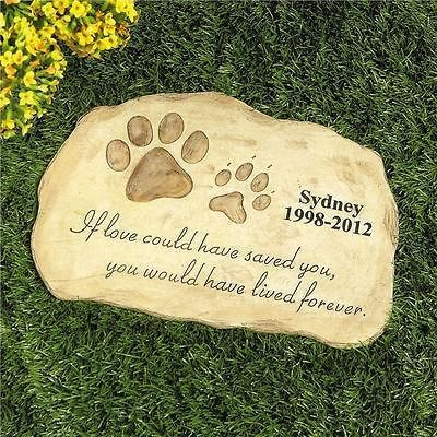 Personalized Pet Memorial Stone Garden Monument Cemetery Grave Dog Cat In Memory Pinterest