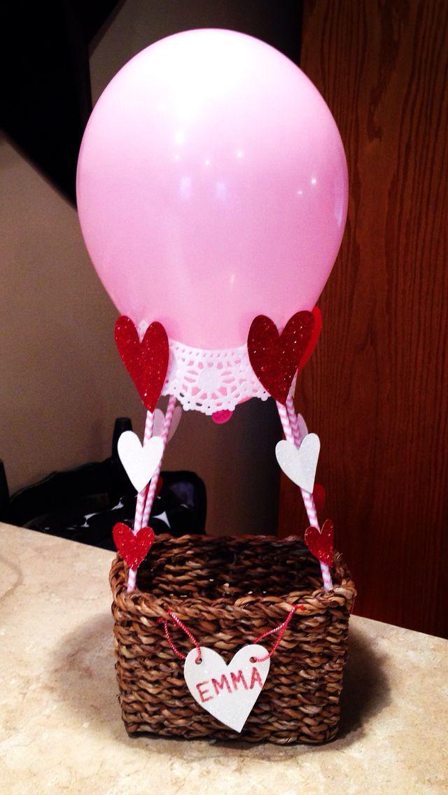 Hot Air Balloon Valentine's Box!