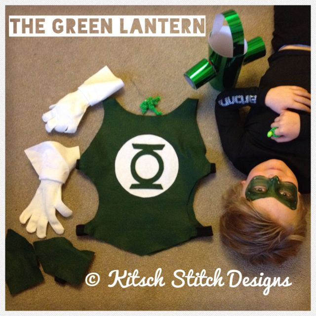 The Green Lantern costume from Kitsch Stitch Designs  #Superhero #Green Lantern…