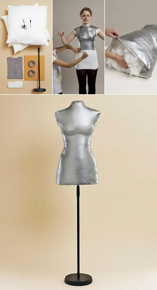 DIY :: How To Make Your Own DRESS FORM! :: A pretty easy tutorial for those who are avid sewers, dressmakers, etc & need a cheap & easy dress form. Also a good way to have a dress form using your exact body shape! | #personalizedfashion #dressform #ducttape #ducttapecrafts