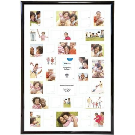 Mainstays 27x40 41-Opening Trendsetter Collage Poster & Picture Frame, Black, Collage - Walmart.com
