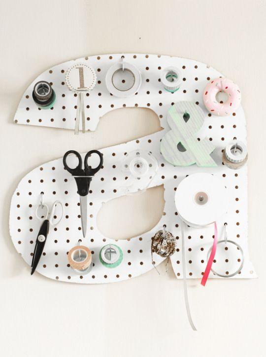 14 Creative Ideas For Pegboard (via Bloglovin.com )