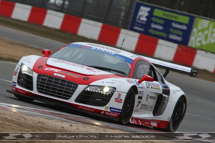 Two Audi R8 LMS at BRCC Zolder Test Day