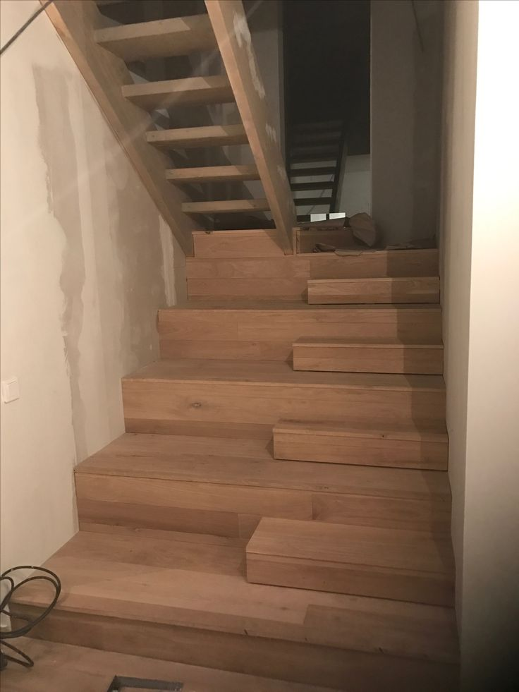 Working on stairs