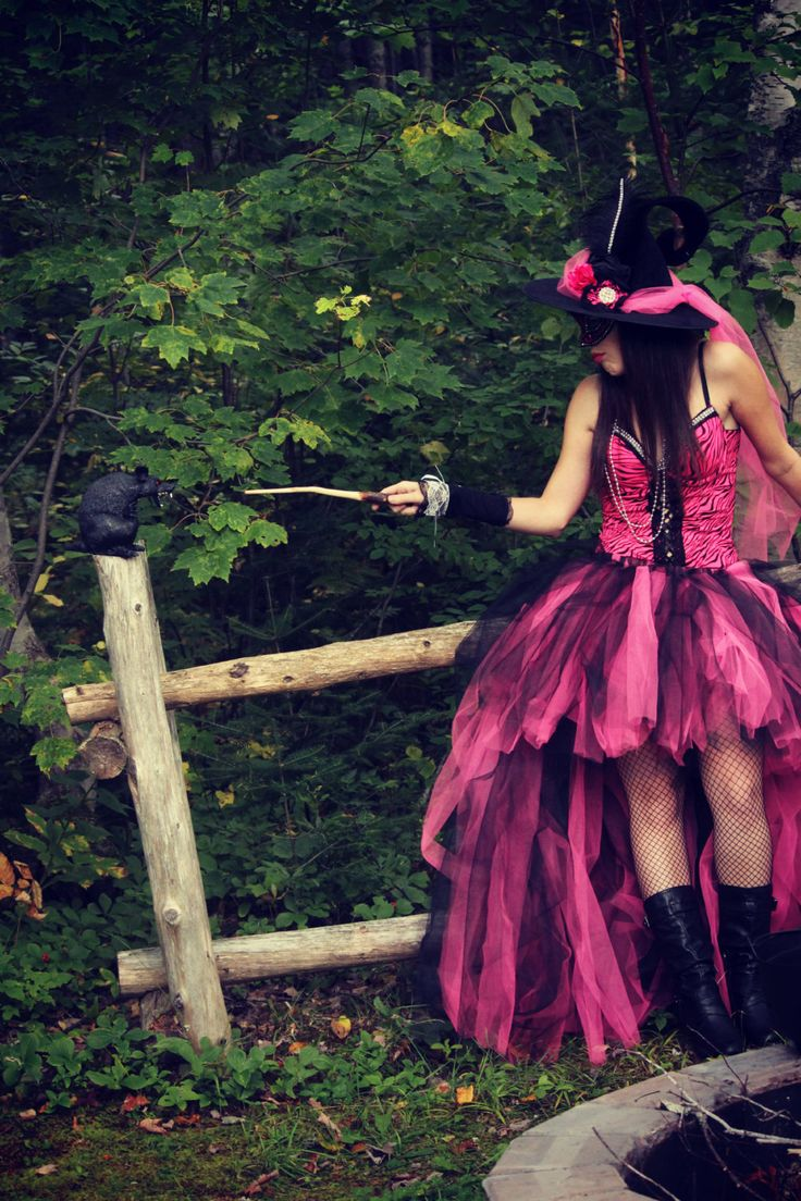 Burlesque Corset sexy Witch Halloween costume with Hat available and mask! Ready to ship now by Mybebechic on Etsy