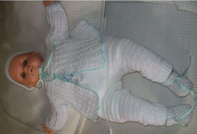 Vestido en crochet para bebe