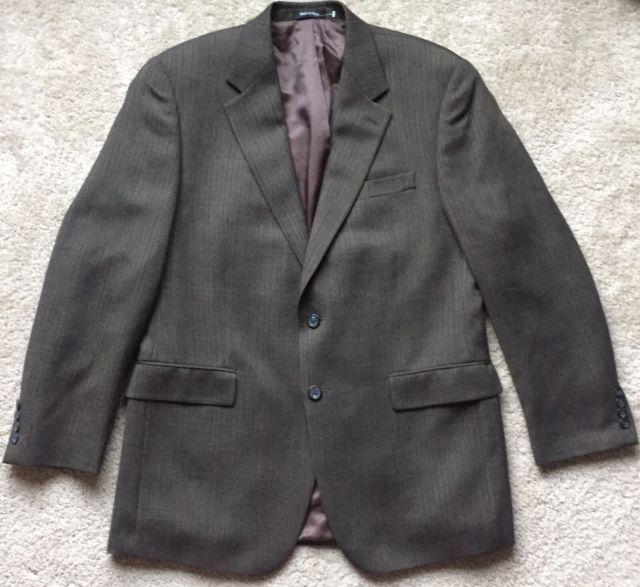 RALPH LAUREN Men's Brown 100% WOOL Double Button Blazer Sport Coat Size 40 R | eBay