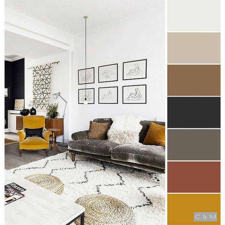 Office Space Inspiration Boho Design Yellow Color Palette Color Palette Living Room Living Room Color Living Room Color Schemes