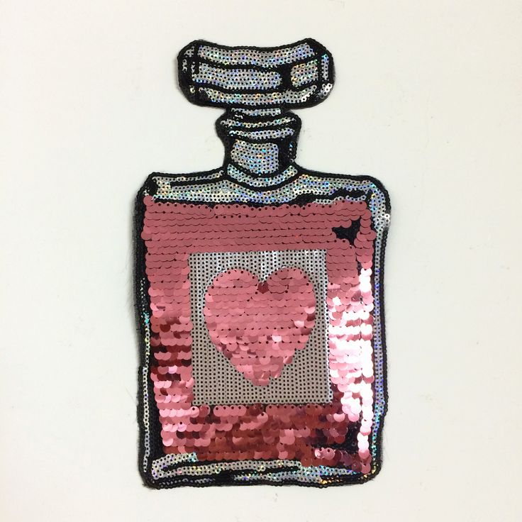 love bottle sequined parches termoadhesivos embroidery applique patches for clothing ,ironing patches stickers for clothes #Affiliate