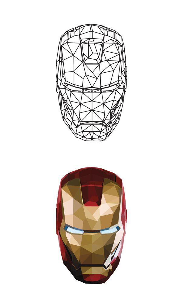 #Iron_man #Avengers #Polygon #Illust #Artwork