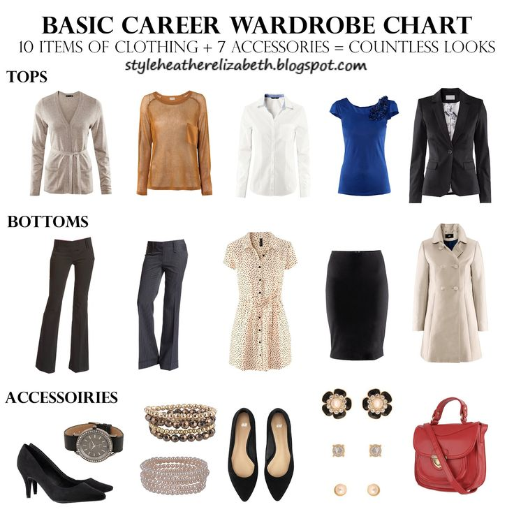 Worrying because you don't have many business pieces? Stop worrying! Here's a great example of how you can mix and match only 10 items of clothing and 7 accessories (including shoes and bags) for countless looks!