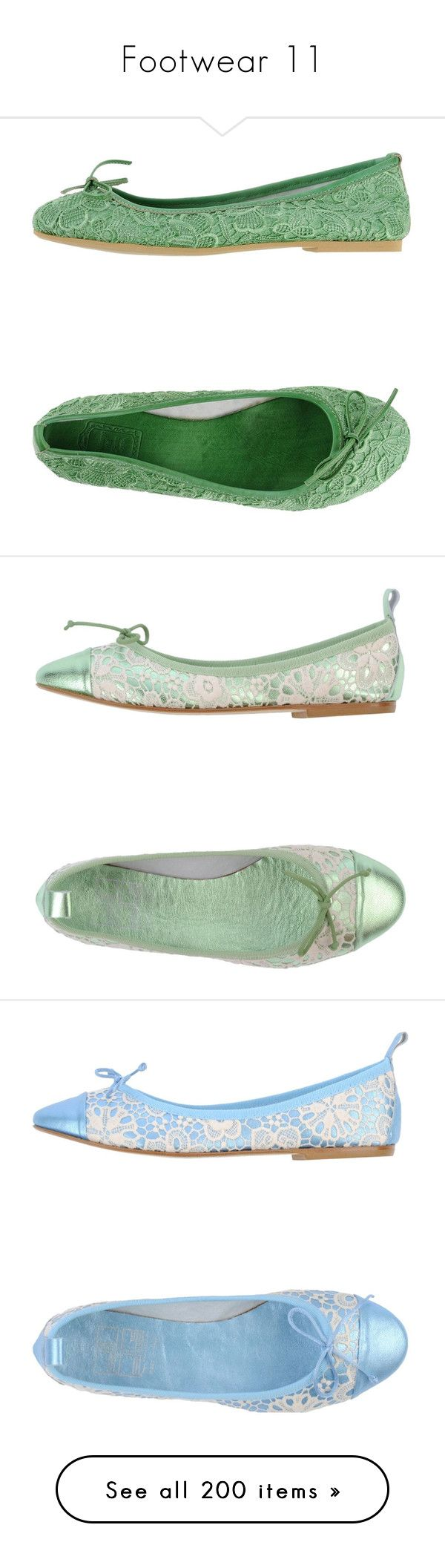 """Footwear 11"" by katiemarilexa ❤ liked on Polyvore featuring shoes, flats, light green, ballet flat shoes, bow flats, ballet shoes, flat ballet pumps, bow ballet flats, buckle flats and round toe flat shoes"