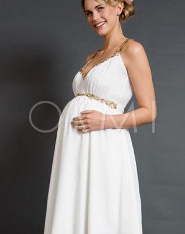 Voorjaar Moderne Eenvoudige Trouwjurk voor zwangere vrouwen