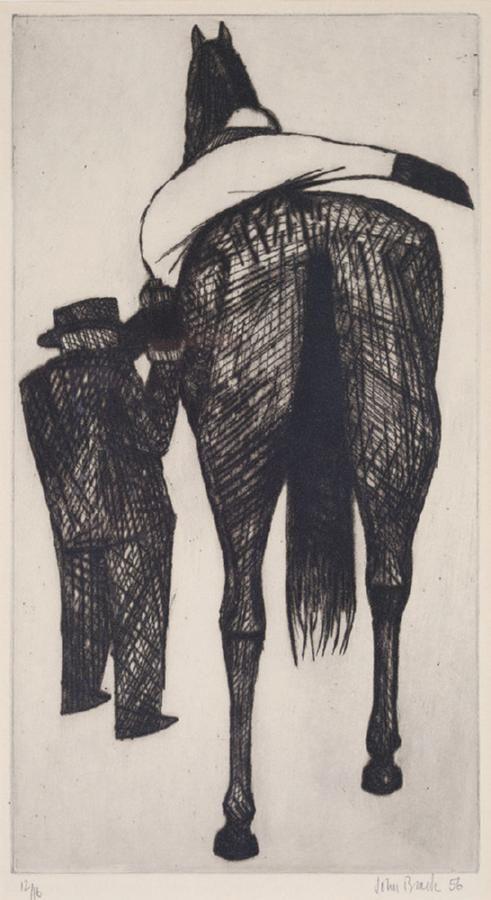 John Brack - Mounting (etching)