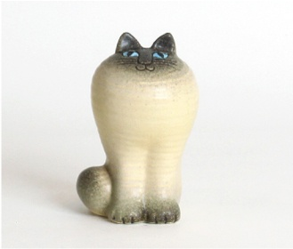 Lisa Larson: CAT MAYA (White)