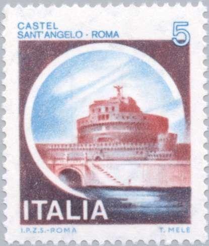 Sello: Castles- Sant'Angelo Roma (Italia) (Castles) Mi:IT 1701,Sn:IT 1408,Yt:IT 1433,Sg:IT 1649,Un:IT 1504