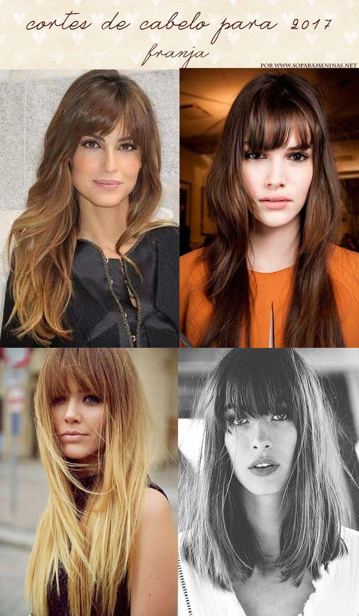 cortes de cabelo para 2017 franja