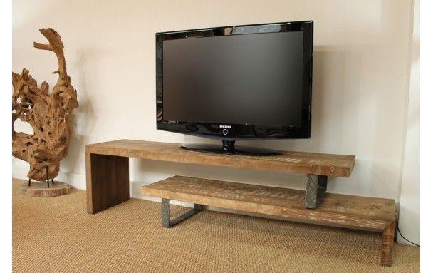 Meuble Tv Design En Teck Recycle Ce Meuble Tv En Teck Est Extensible Et A Ete Fabrique A Partir De Bois Provenant Meuble Tv Mobilier De Salon Meuble Tv Design
