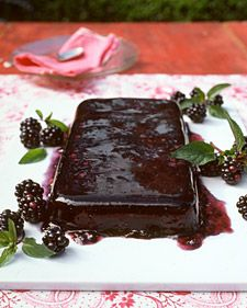 Juicy blackberries lend sweet-tart flavor to this mint-garnished summer dessert; red wine spices up its fruity taste and adds depth. Choose a full-bodied red such as zinfandel or syrah to complement the berries.