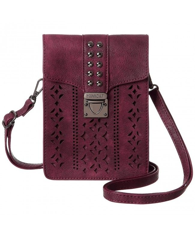 Women Hollow Texture Small Crossbody Bags Cell Phone Purse Wallet For Women  - Wine Red-wider - CG188QR8MSK  Bags  Wallets  Purse  gifts  Style bc296eb3d915e