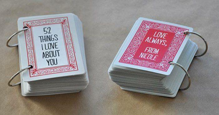 52 choses que j aime chez toi, cartes de jeux personnalisées à offrir, cadeau a fabriquer pour sa meilleure amie