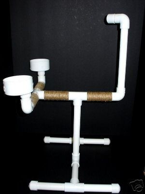 PVC bird stand ideas...