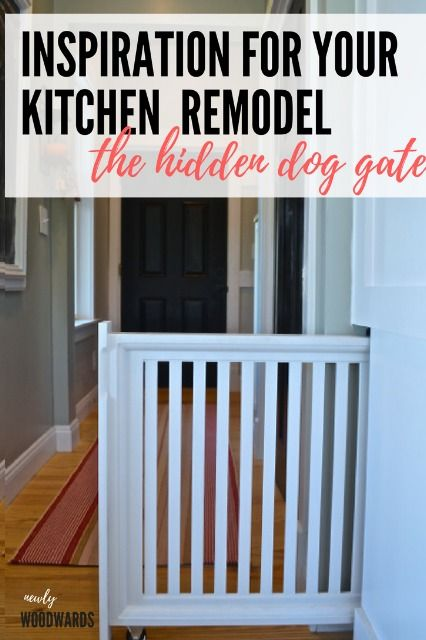 Need unique inspiration for your home remodel? Check out this idea for households with pets - a built-in (hidden) pet gate.