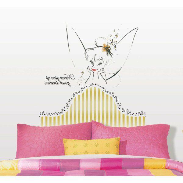 tête de lit peinture une fée