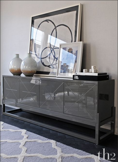MODERN SIDEBOARD    home decor ideas with a black sideboard    bocadolobo.com/ #modernsideboard #sideboardideas