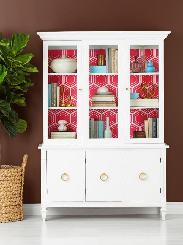 Update A Used China Cabinet Hgtv Magazine Painted