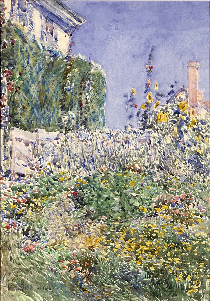 paper on childe hassam Etching on paper 7 ¼ x 11 ¾ inches gibbes museum of art (1993003) enlarge  between late march and early april 1925, childe hassam traveled south to.