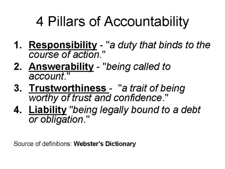 accountability quotes   Definitionof ACCOUNTABILITY (M erriam-Webster Dictionary):