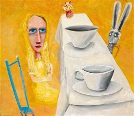 MAD HATTER'S TEA PART charles Blackman Alice in Wonderland series