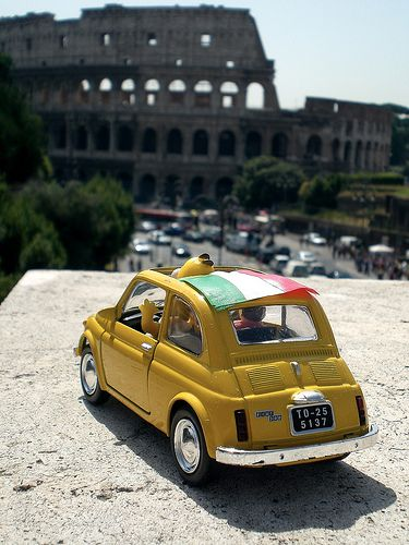 Fiat 500 at Colosseum by Matteo Tessarolo, via Flickr