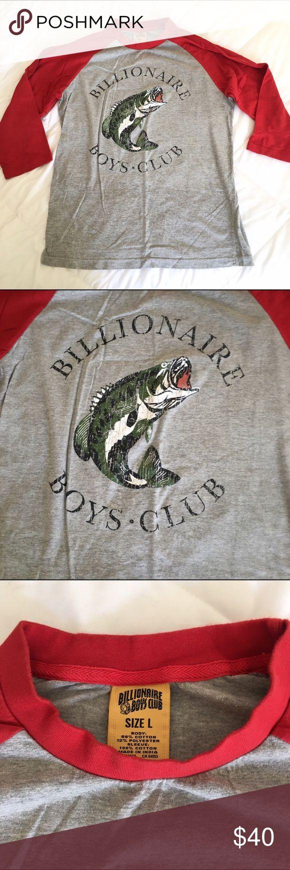 Billionaire Boys Club baseball tee Billionaire Boys Club baseball tee. Gently used. Size is a large. Open to offers! Billionaire Boys Club Shirts Tees - Long Sleeve