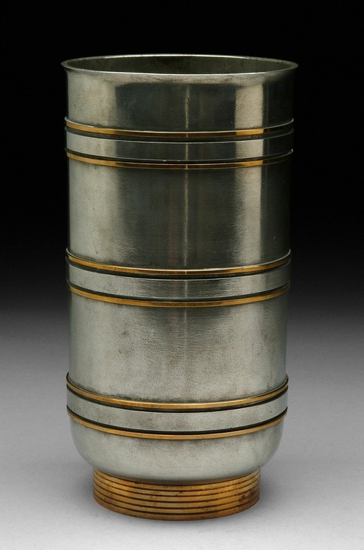 Edvin Ollers, 1930s, pewter and brass, talk about Swedish Grace.