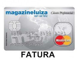 Fatura Cartão Luiza MasterCard