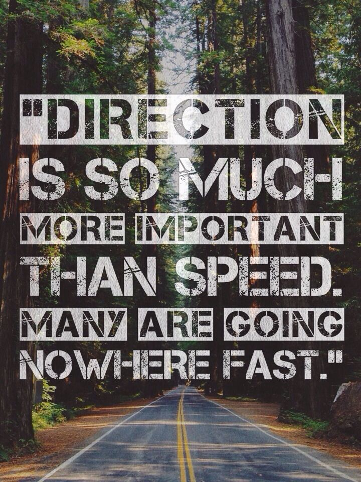 Direction Is So Much More Important Than Speed Many Are Going
